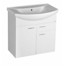 Aqualine Zoja mosdótartó szekrény, 2 ajtó, 1 fiók 71,5x74x34cm, fehér