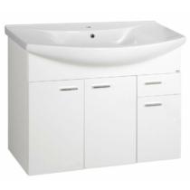 Aqualine Zoja Mosdótartó szekrény, 93x74x34cm, fehér