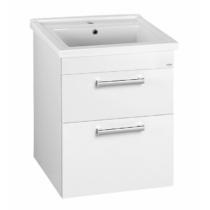 Aqualine Poly mosdótartó szekrény, 2 fiókos, 56x74,6x46,5cm, fehér