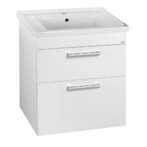 Aqualine Poly mosdótartó szekrény, 2 fiókos, 66x74,6x46,5cm, fehér