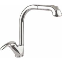 Aqualine Kasiopea Mosogató-csaptelep, kihúzható zuhanyfejjel, 50cm, króm
