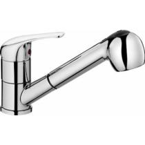 Aqualine 40 mosogató-csaptelep, kihúzható zuhanyfejjel, króm