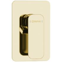 Spy falba süllyesztett zuhanycsaptelep, zuhanyszett nélkül, arany