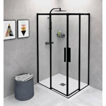 Altis Line Black szögletes zuhanykabin; 100 x 80 cm; átlátszó üveg