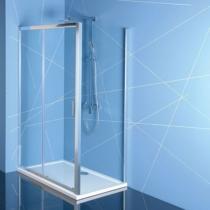 Polysan Easy Line zuhanyajtó (tolóajtó) oldalfallal, 100 x 70 cm, transzparent üveg