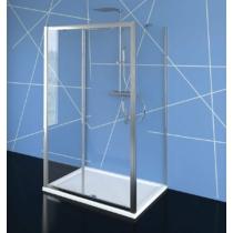 Polysan Easy Line zuhanyajtó 2 oldalfallal, 2 merevítővel, 100 x70 cm, transzparent üveg