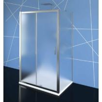 Polysan Easy Line zuhanyajtó 2 oldalfallal, 2 merevítővel, 110 x70 cm, BRICK üveg