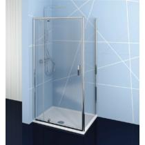Polysan Easy Line nyílóajtó oldalfallal, 80-90 x 70 cm, transzparent üveg