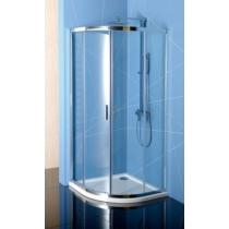 Sapho Polysan Easy Line íves zuhanykabin, 800x800mm, transzparent üveg (6mm) 190 cm magas