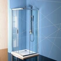 Sapho Polysan Easy Line szögletes zuhanykabin, 900x900mm, transzparent üveg (6mm) 190cm magas