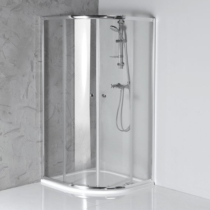 Aqualine Arleta íves zuhanykabin, 80x80x185cm, transzparent( 4mm üveg ) 185 cm magas