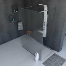Sapho Polysan Modular Walk-In zuhanyfal, 1200mm