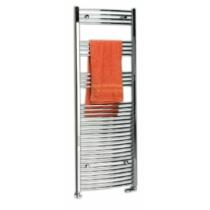 Sapho ALYA íves fürdőszobai radiátor, 450x800mm, 196W, króm