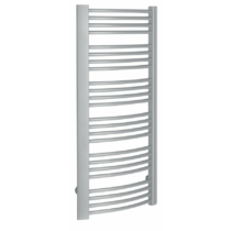 Sapho EGEON fürdőszobai radiátor, 595x1238mm, 739W, ezüst struktúrált