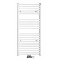 Aqualine Fürdőszobai radiátor, középső bekötéssel, 450x1320mm, 539W, fehér