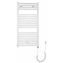 Aqualine elektromos fürdőszobai radiátor fűtőpatronnal, egyenes, 450x960cm, 300W, fehér