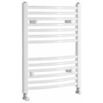 Aqualine Fürdőszobai radiátor, íves, 500x650mm, 319W, fehér