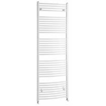 Aqualine Fürdőszobai radiátor, íves, 750x1868mm, 1258W, fehér