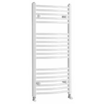 Aqualine Fürdőszobai radiátor, íves, 450x986mm, 432W, fehér