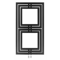Sapho DUPOLI fürdőszobai radiátor, 600x1110mm, 556W, struktúrált antracit