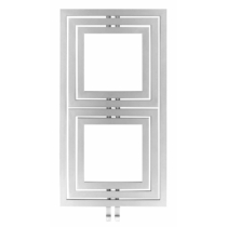 Sapho DUPOLI fürdőszobai radiátor, 600x1100mm, 556W, struktúrált ezüst