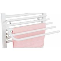 Aqualine Lehajtható szárító 4 törölközőnek ORBIT radiátorokhoz, fehér