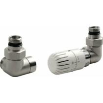 AQUALINE ECO csatlakozó készlet termosztáttal, jobbos, nikkel/fehér