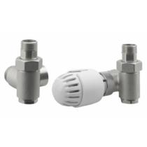 Aqualine ECO COMBI csatlakozókészlet termosztáttal, jobbos, nikkel/fehér