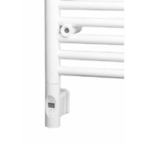 ENIX Elektromos termosztátos fűtőpatron radiátorhoz, távirányítóval, 600W, kerek, fehér