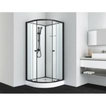 BELA 2 komplett zuhanykabin, fekete