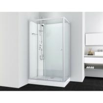 VIVA 2 hidromasszázs zuhanykabin, aszimmetrikus, króm