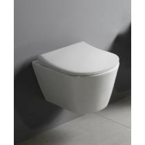 Sapho AVVA RIMLESS fali WC beépített bidézuhannyal, 35,5x53cm, WC-ülőke nélkül