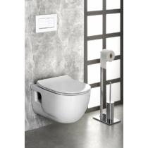 Sapho BRILLA RIMLESS fali WC beépített bidézuhannyal, 36,5x53cm, WC-ülőke nélkül