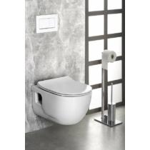 Sapho BRILLA RIMLESS, fali WC, 36,5x53cm, WC-ülőke nélkül