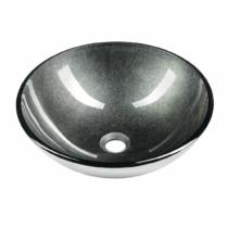 Sapho BEAUTY SKIN üvegmosdó, átm:42x14cm, metál szürke