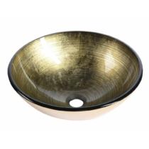 Sapho BEAUTY FIANNA üvegmosdó, átm:42x14cm, bronz