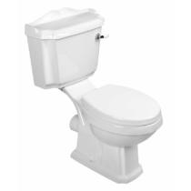 Aqualine ANTIK monoblokkos WC, hátsó kifolyású, PP WC-ülőkével, öblítőmechanika kerámia fogantyúval,