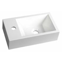 Sapho AMAROK öntöttmárvány mosdó, balos, 40x11x22cm