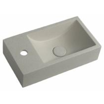 Sapho CREST SMALL beton mosdó, balos, 40x22cm, homokkő
