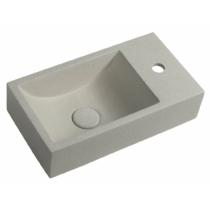 Sapho CREST SMALL beton mosdó, jobbos, 40x22cm, homokkő