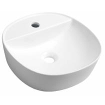 Sapho LUGANO pultra szerelhető kerámiamosdó, túlfolyó nélkül, 41x11,5cm