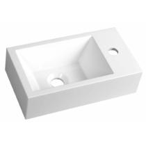 Sapho AMAROK öntöttmárvány mosdó, jobbos, 40x11x22cm