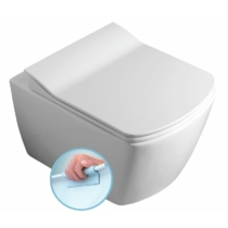 Sapho GLANC fali rimless WC, 37x51,5cm ,WC-ülőke nélkül