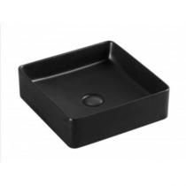 Sanotechnik SLIM síklapos kerámiamosdó, matt fekete, szögletes