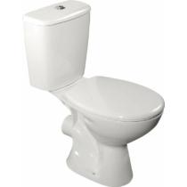 Aqualine JUAN monoblokkos WC, hátsó kifolyású, króm duál gombos öblítőmechanika, WC-ülőke nélkül