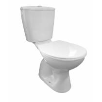 Aqualine MIGUEL monoblokkos WC, alsó kifolyású, króm duál gombos öblítőmechanika, WC-ülőke nélkül