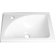 Aqualine Öntöttmárvány mosdó, 40x32cm, fehér