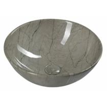 Sapho DALMA kerámiamosdó, 42x42x16,5cm, szürke márvány