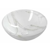 Sapho DALMA kerámiamosdó, 42x42x16,5cm, fehér márvány