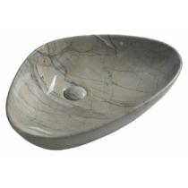 Sapho DALMA kerámiamosdó, 58,5x39x14cm, szürke márvány